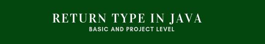 Return type in java