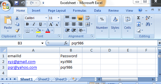 How to send multiple sets of Data from the Excel Sheet using POI API