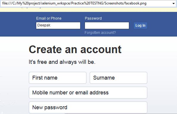 How to take screenshot in Selenium WebDriver