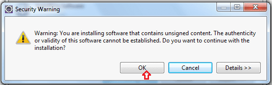 Security warning when Installing TestNG