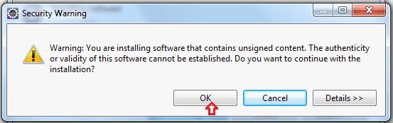 Security warning when Installing TestNG Framework