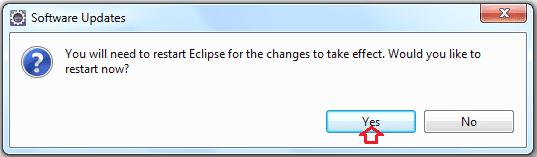 Software update after Installation of TestNG