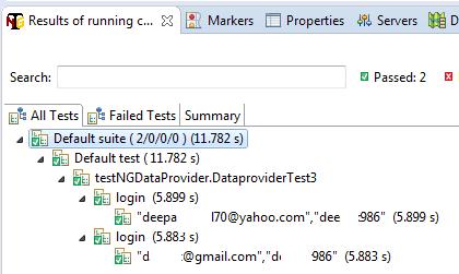 TestNG Data provider