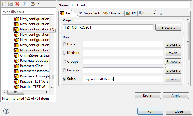 Run TestNG XML File