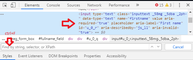 How to find XPath in Chrome browser