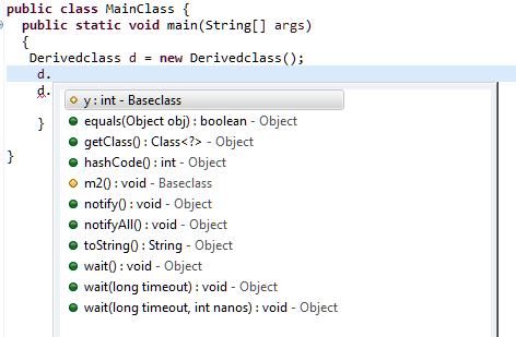 Behavior of Access Specifiers in case of Java Inheritance