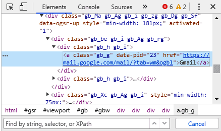 How to Create XPath of Links in Selenium