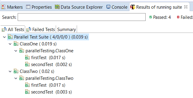 Parallel Execution of Tests in TestNG
