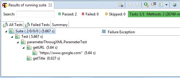 TestNG Parameterization