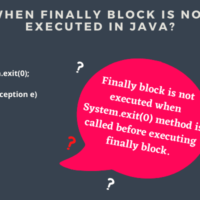 When finally block is not executed in java