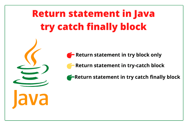 Return statement in Java try catch finally block