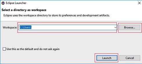 Eclipse IDE workspace