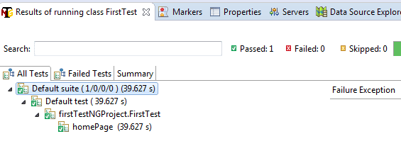 TestNG result