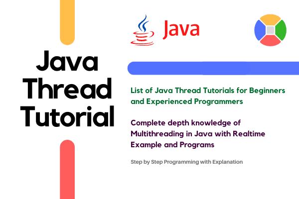 Java Thread Tutorial