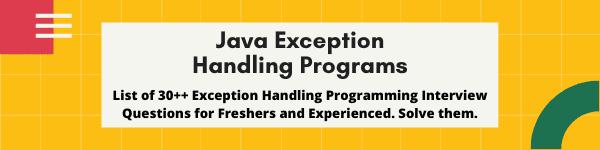 Exception Handling Program in Java