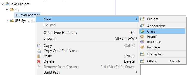 Creating Java class